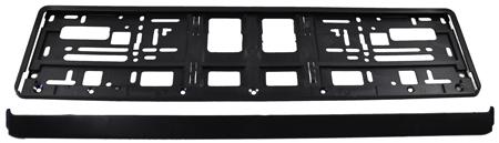 schwarze hochwertige kennzeichenhalter nummernschildhalter. Black Bedroom Furniture Sets. Home Design Ideas