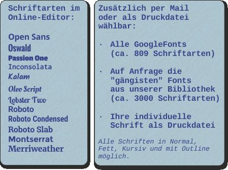 Kennzeichen-Werbung-Schriftarten